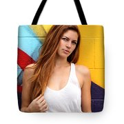 Young Woman Tote Bag