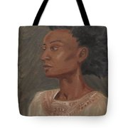 Young Woman With An Afro Tote Bag