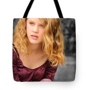 Young Woman's Portrait 2 Tote Bag