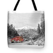 1946 Ford Special Deluxe Woody On Apache Summit Tote Bag