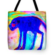 When Your Inner Dog Is Feeling Blue  Tote Bag