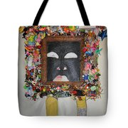 You're Standing In My Eye - Framed Tote Bag