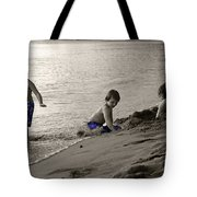 Youth At The Beach Tote Bag