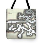 Yrchyn The Tyrant Kobold Lair Map Tote Bag