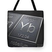 Ytterbium Chemical Element Tote Bag