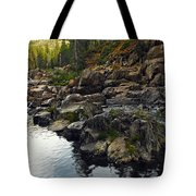 Yuba River Rocks Tote Bag