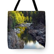Yuba River Twilight Tote Bag