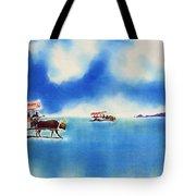 Yubu Island-water Buffalo Taxi  Tote Bag