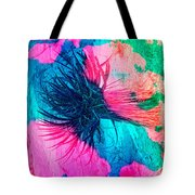 Yucca Abstract Pink Blue Green Tote Bag