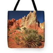 Yucca Badlands And Colors Tote Bag