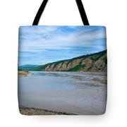Yukon River As It Heads Northeast To The Arctic Circle-yt Tote Bag
