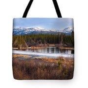 Yukon Taiga Wetland Marsh Spring Thaw Canada Tote Bag