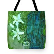 Yupo Flower On Chair Tote Bag