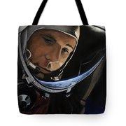 Yuri Alekseyevich Gagarin Tote Bag by Simon Kregar