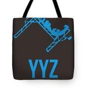 Yyz Toronto Airport Poster 2 Tote Bag by Naxart Studio