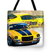 Yellow Z28 Camaro Tote Bag