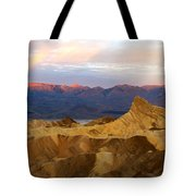 Zabriskie Point Sunrise Death Valley Tote Bag