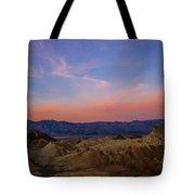 Zabriskie Point Sunrise Tote Bag