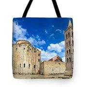 Zadar Cathedral Famous Landmark Of Croatia Tote Bag
