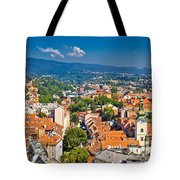 Zagreb Capital Of Croatia Aerial View Tote Bag