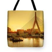 Zakim Bridge Sunset Tote Bag