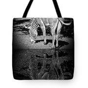 Zebra At The Waters Edge Tote Bag