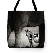 Zebra Barking Tote Bag