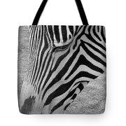 Zebra Face Tote Bag