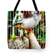 Zebra Finch Tote Bag by Susan Savad