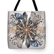 Zebra Flower Tote Bag