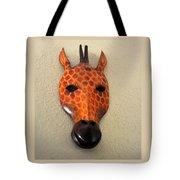 Zebra Head Mask Tote Bag