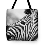 Zebra Head Profile Tote Bag