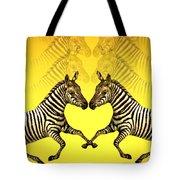 Zebra Heart Tote Bag