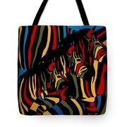 Zebra In The Jungle 2 Tote Bag