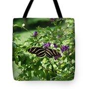 Zebra Longwing Butterfly On Flower Tote Bag