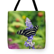 Zebra Longwing Tote Bag by Laurie Perry