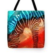 Zebra Love - Art By Sharon Cummings Tote Bag by Sharon Cummings