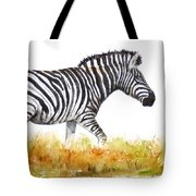 Zebra Panoramic Tote Bag