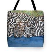 Zebra Pool Tote Bag