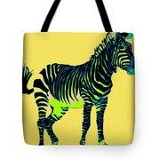 Zebra Pop Art Tote Bag