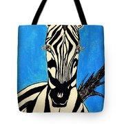 Zebra Portrait 5 Tote Bag