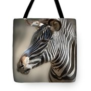 Zebra Profile Tote Bag