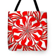 Zebra Red Swirling Kaleidoscope  Tote Bag