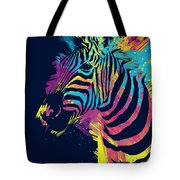 Zebra Splatters Tote Bag by Olga Shvartsur