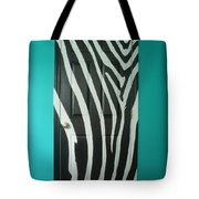 Zebra Stripe Mural - Door Number 1 Tote Bag