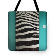 Zebra Stripe Mural - Door Number 2 Tote Bag