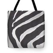 Black And White Zebra Stripes Tote Bag