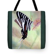Zebra Swallowtail Butterfly By George Wood Tote Bag