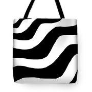 Zebra Waves Tote Bag