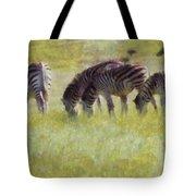 Zebras In Africa Tote Bag